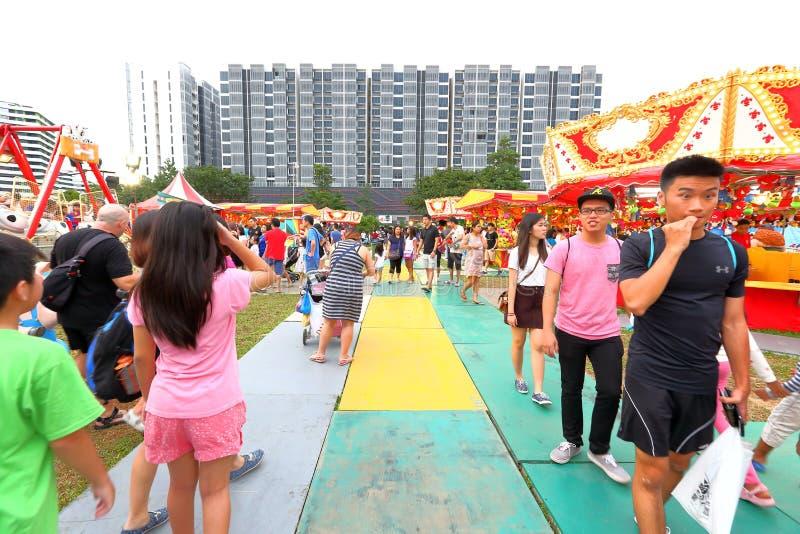 Singapore: Pretmarkt in de stad royalty-vrije stock fotografie
