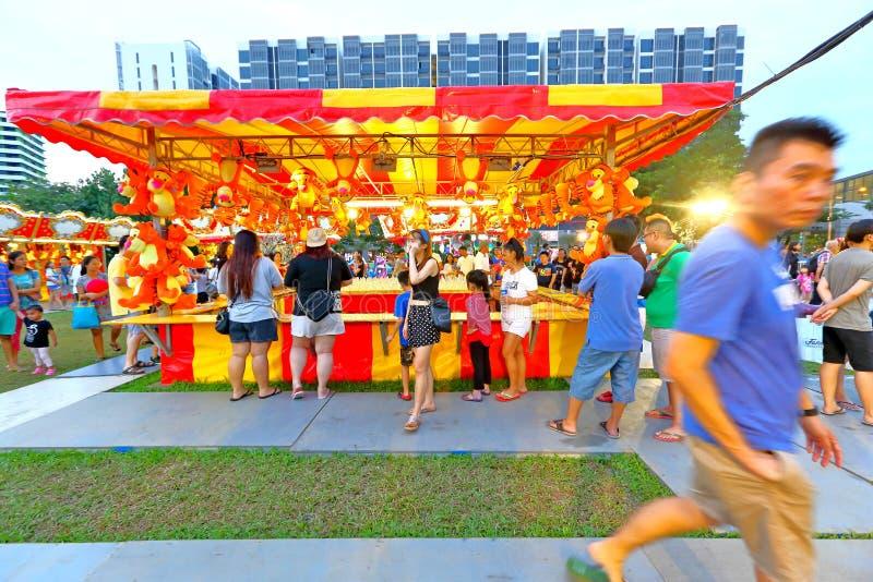 Singapore: Pretmarkt in de stad stock foto