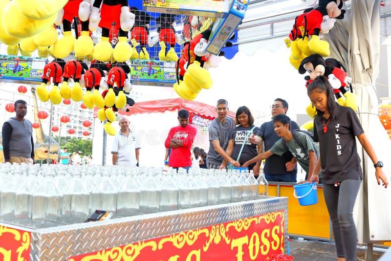 Singapore: Pretmarkt in de stad stock afbeelding