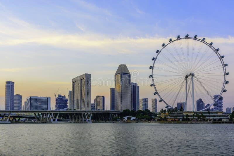 Singapore reklamblad med omgivning arkivbilder