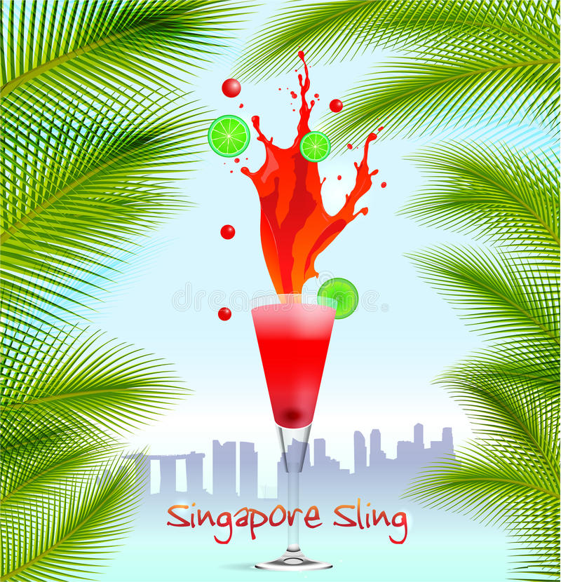 Singapore rembakgrund stock illustrationer