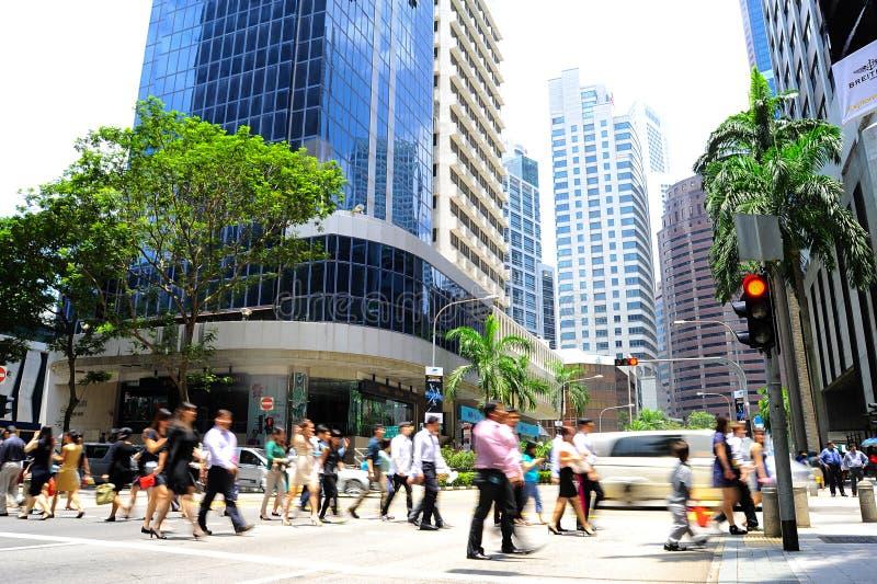 Singapore rusningstid royaltyfri fotografi