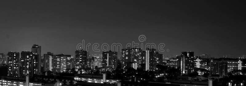 Singapore residential night scene stock images