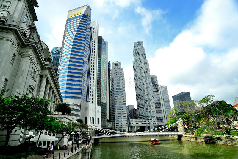 Singapore River Editorial Stock Photo