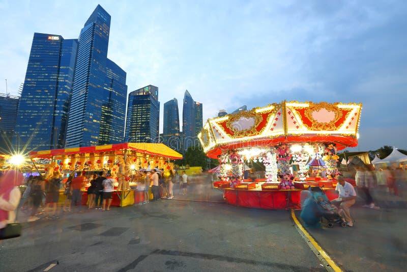 Singapore: Rolig mässa arkivbild