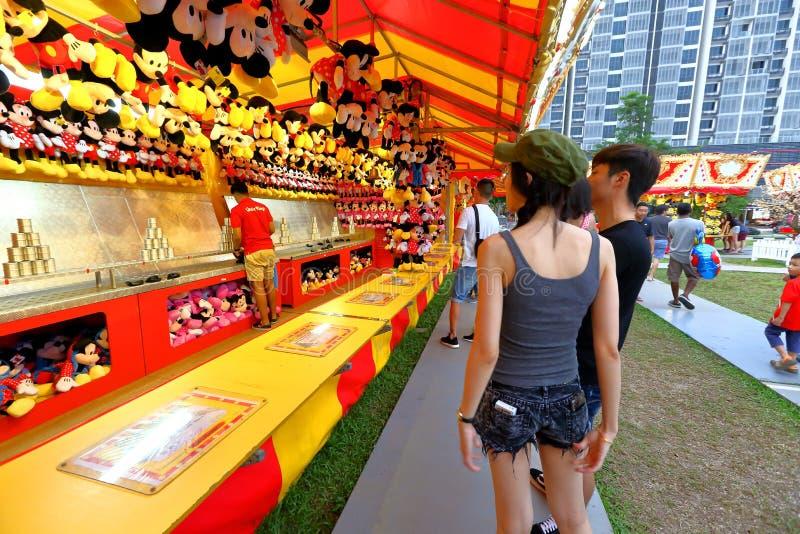 Singapore: Rolig mässa i staden royaltyfri fotografi