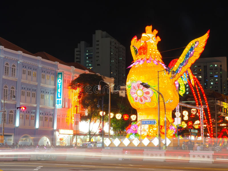 Download Singapore`s Chinatown - Year Of The Rooster Editorial Photography - Image: 83709907