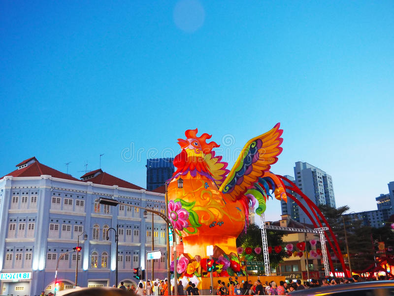 Download Singapore`s Chinatown - Year Of The Rooster Editorial Stock Image - Image: 83711049