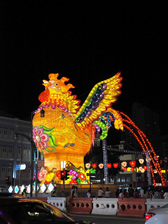 Download Singapore`s Chinatown - Year Of The Rooster Editorial Photography - Image: 83710027