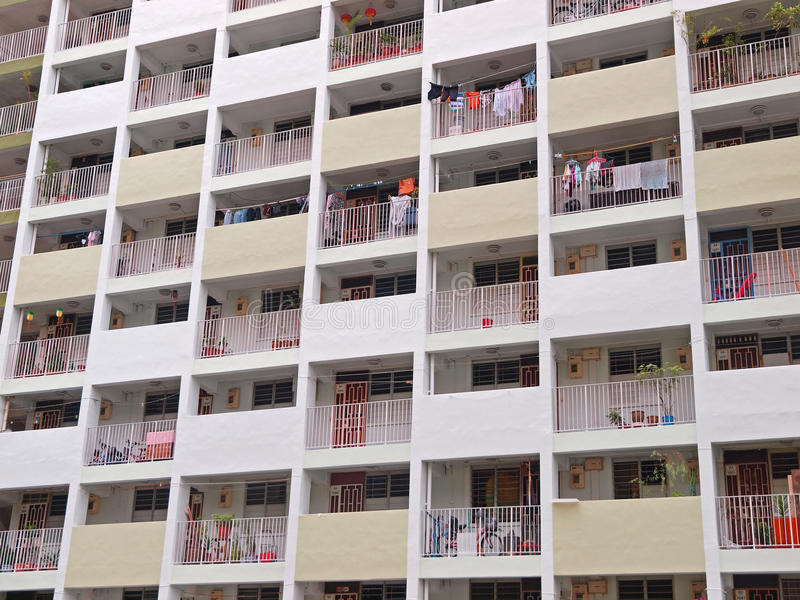 Singapore's Public Housing stock image