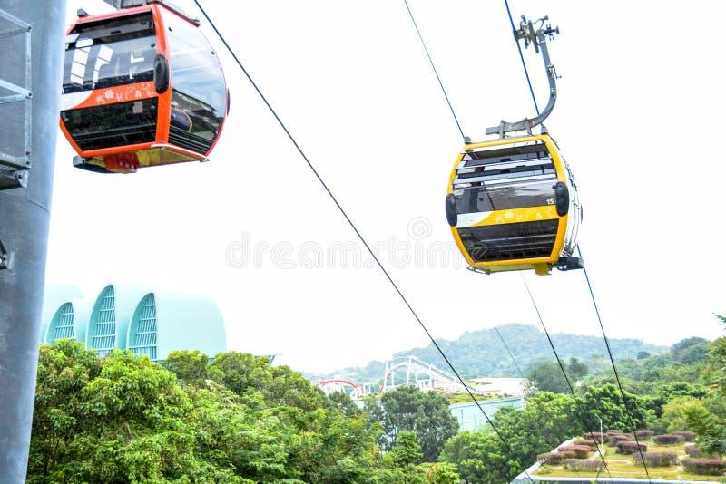 Singapore sentosa cable car tour. Singapore sentosa cable car inside the sentosa resort stock images