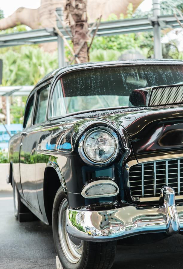 Singapore-26 SEP 2017: vintage car display in Singapore universal studios day view royalty free stock photography