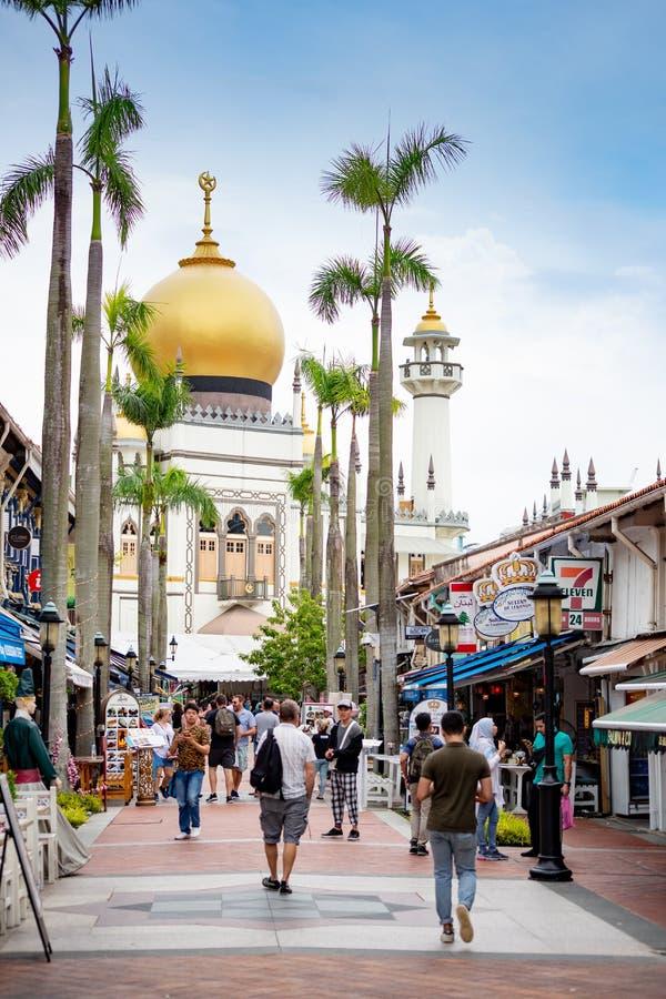 Singapore, Singapore - April 22, 2019: Sultan Mosque view stock photos