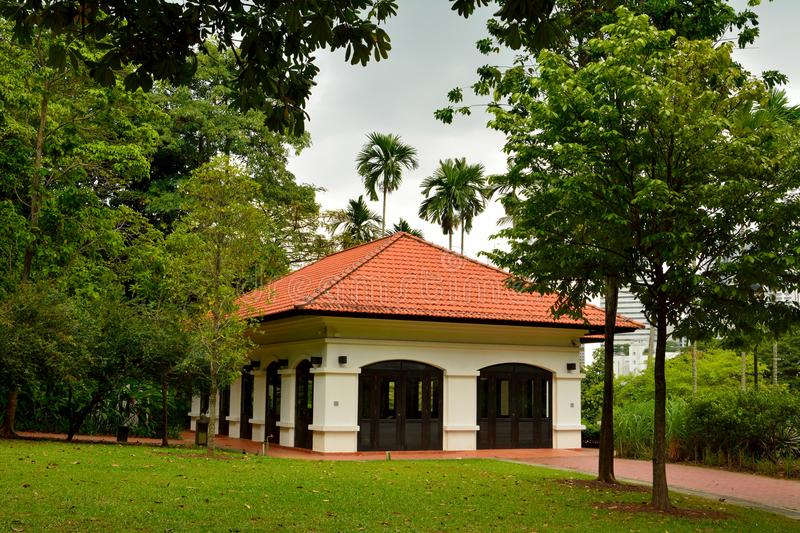 Raffles House at Fort Canning in Singapore stock photo