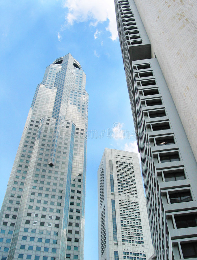 singapore skycrapers zdjęcie royalty free