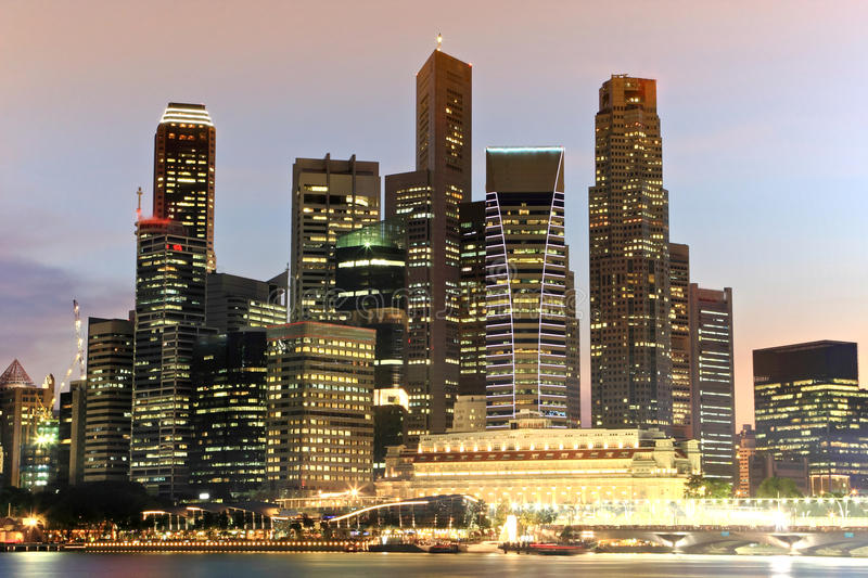 Download Singapore Skyline stock image. Image of financial, commercial - 15246169