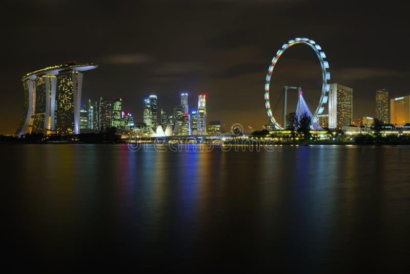 The Singapore skyline royalty free stock image