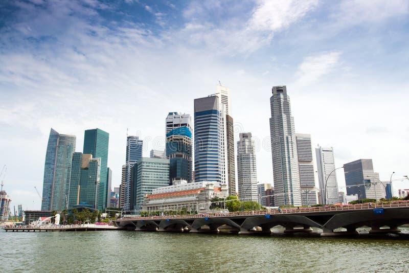 The Singapore Skyline stock photos