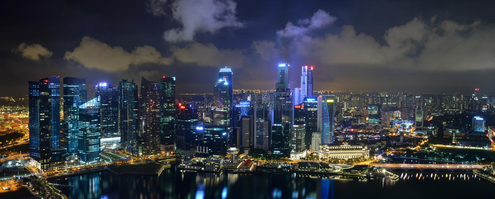 Singapore Skyline Editorial Photo