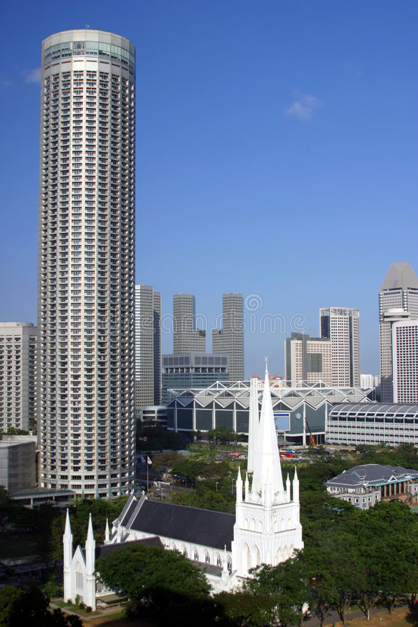Download Singapore skyline stock photo. Image of structure, condo - 3285474