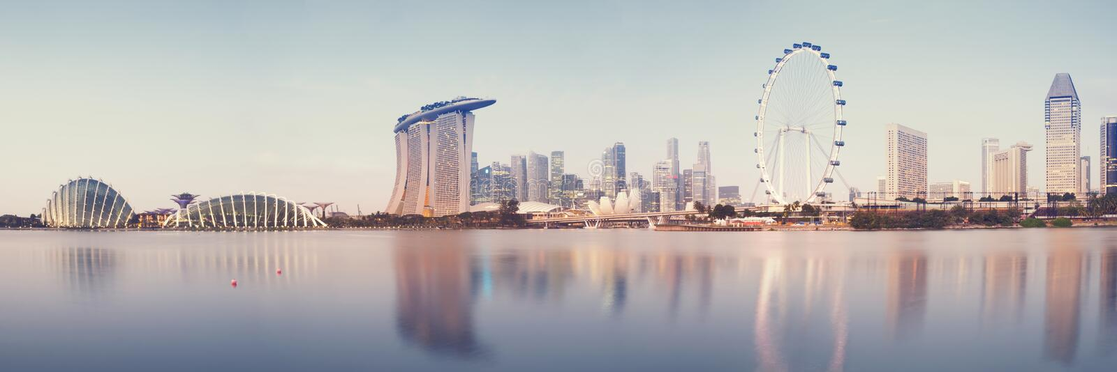 Download Singapore Skyline stock image. Image of business, cloud - 38187019