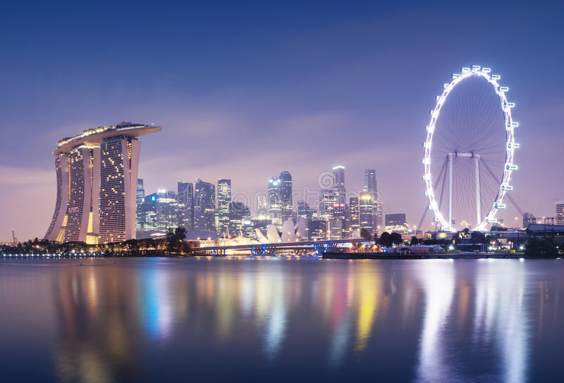Download Singapore Skyline stock image. Image of reflection, downtown - 38216171