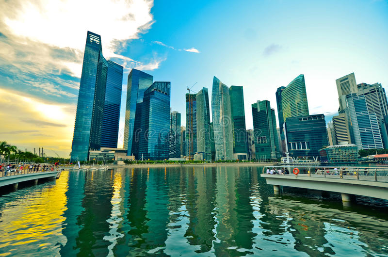 Download Singapore skyline stock photo. Image of hotel, building - 33341524