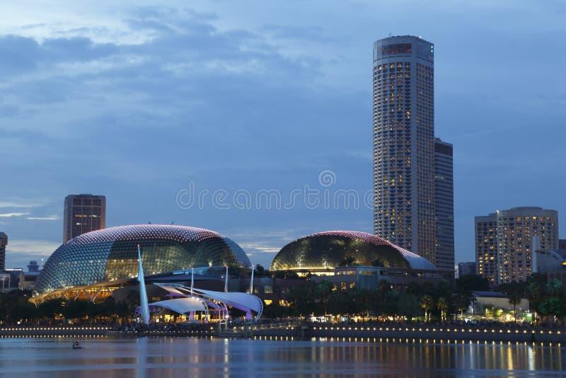 Singapore Skyline 2. Blue hour of Singapore skyline stock photography