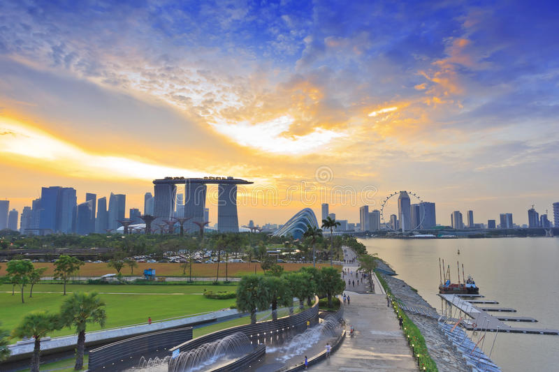 Download Singapore Cityscape When Sunset Stock Photo - Image: 33782532
