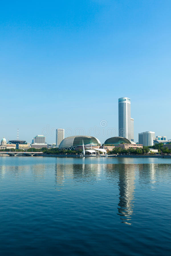 Singapore skyline day royalty free stock images
