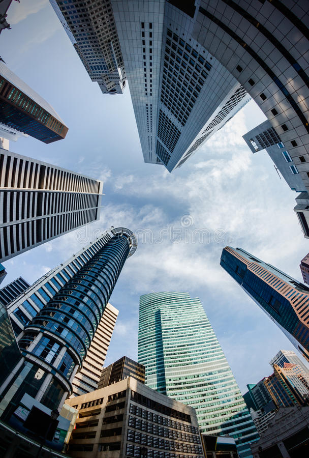 Download Singapore Skyline stock photo. Image of corporate, below - 30596502