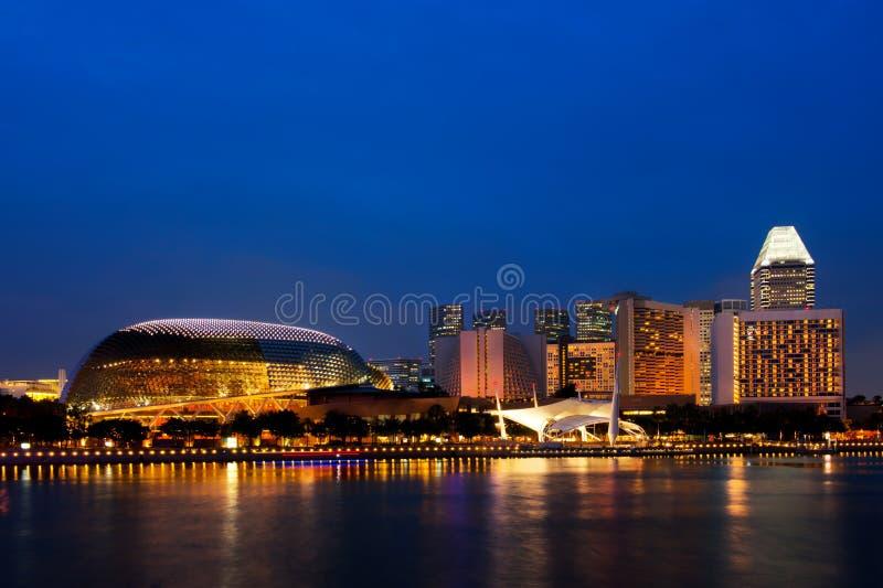 Download Singapore Skyline At Night. Stock Image - Image: 27524351