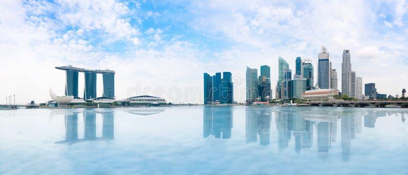 Singapore skyline panorama royalty free stock image