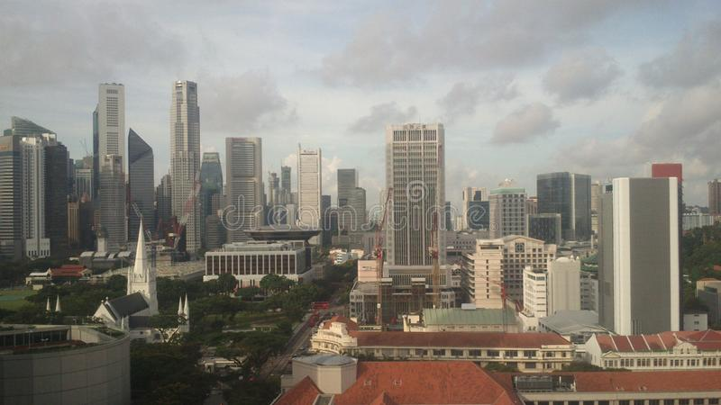 Singapore skyline pictures at day. Time stock photos