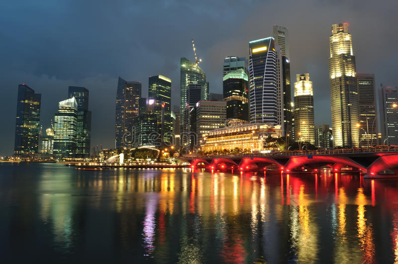 Download Singapore Skyline And River Stock Image - Image: 16970811