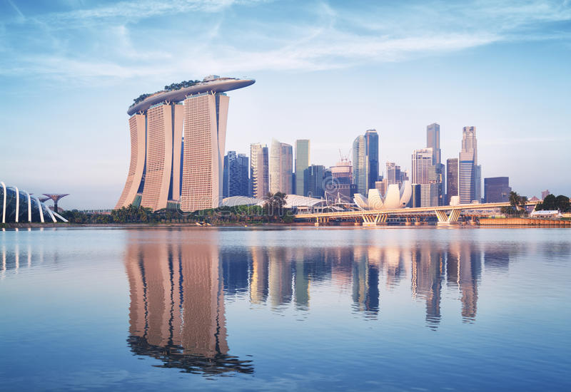 Download Singapore Skyline stock photo. Image of asia, cross, image - 39765322