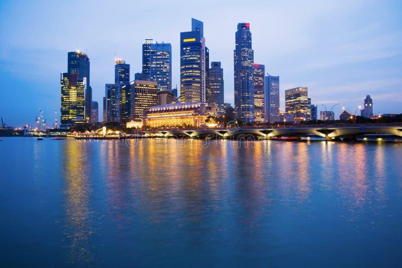 Singapore Skyline at Twilight stock photography