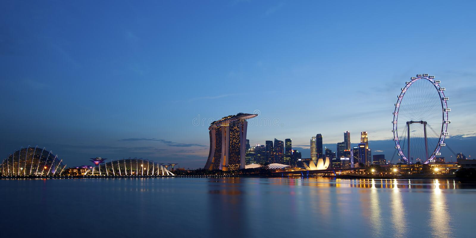 Download Singapore Skyline stock image. Image of culture, esplanade - 32590793