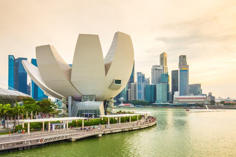 Singapore Skyline And View Of Marina Bay.  stock photo