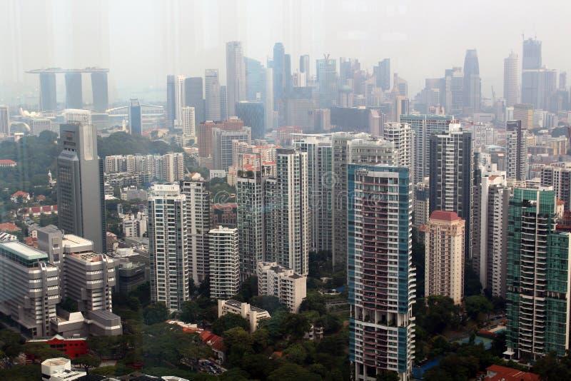 Singapore skyskrapor fotografering för bildbyråer