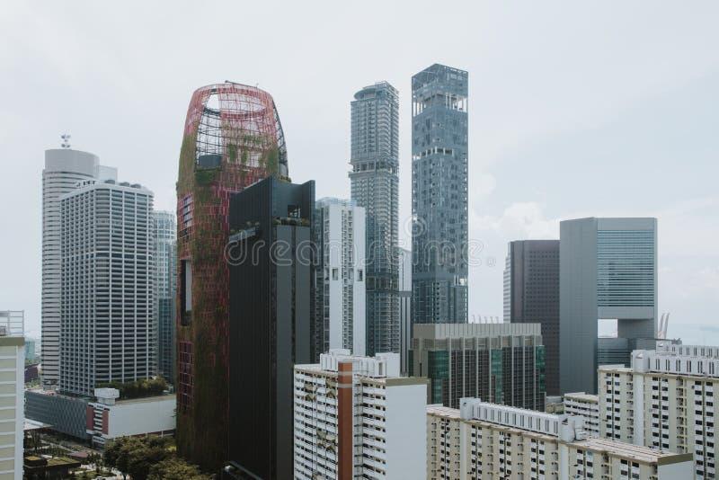 Singapore stad på dagen royaltyfri fotografi