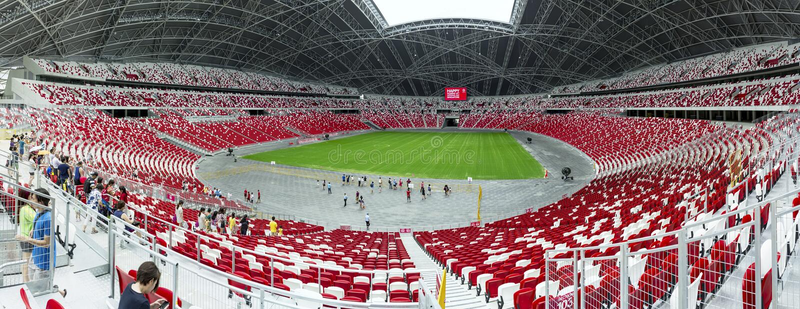 Singapore Stadium royalty free stock image