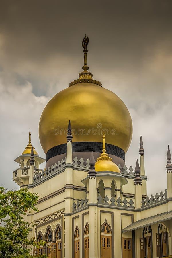 Singapore sultan för Masjid moské arkivbild