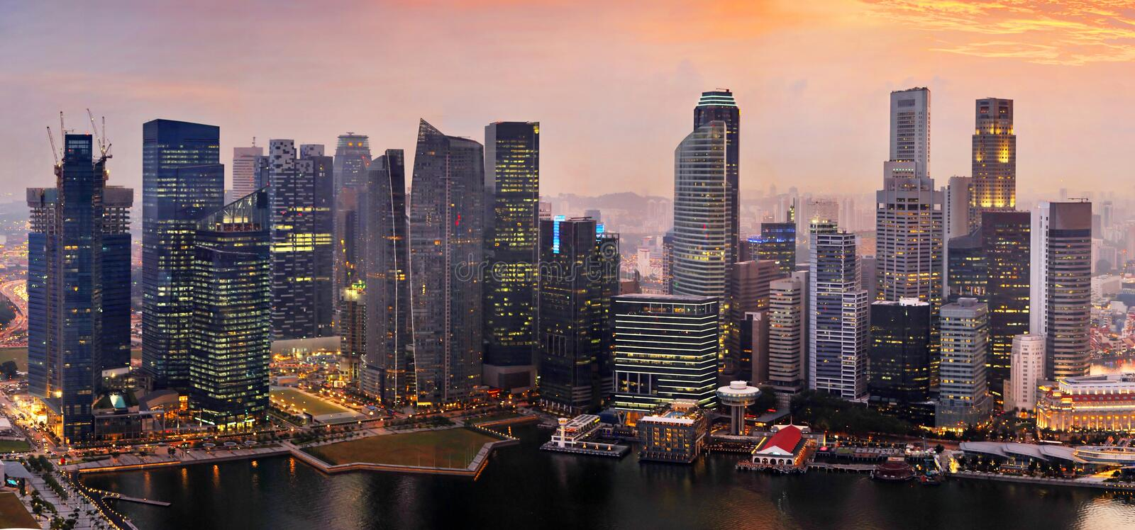 Download Singapore at sunset stock image. Image of corporate, architecture - 20183327
