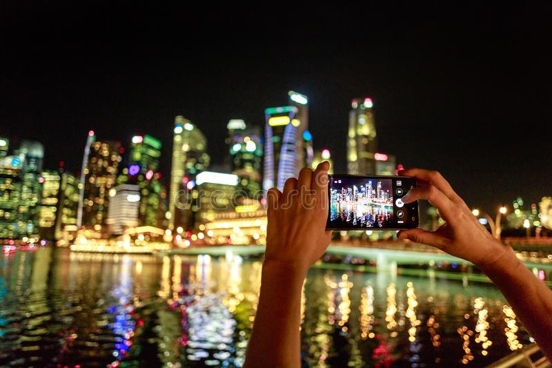 Singapore telefonbild royaltyfri foto