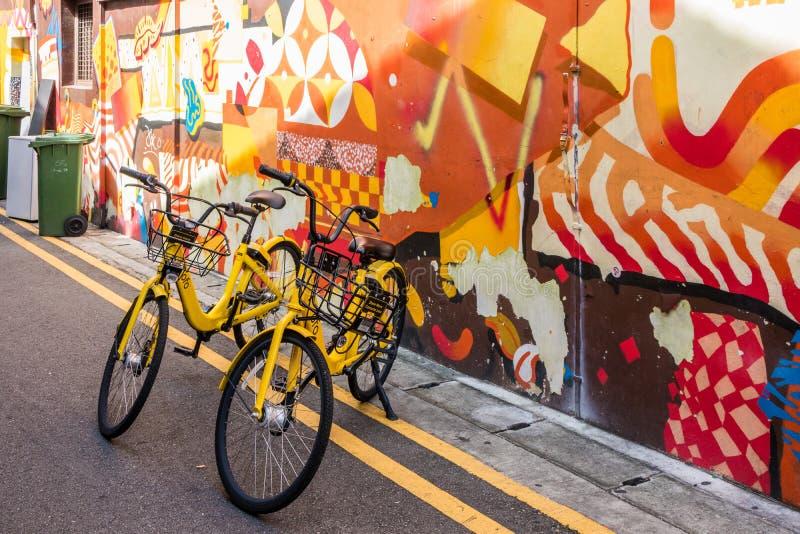 Ofo rental bikes stock photos