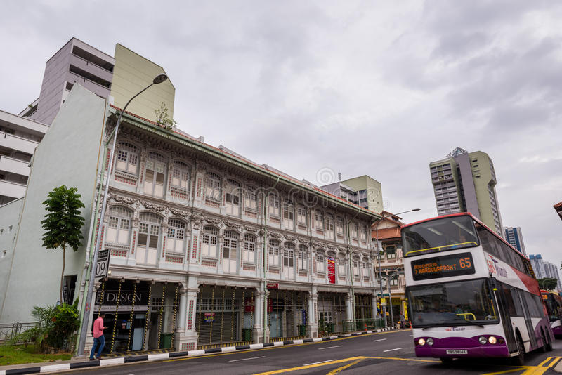 Singapore traditional shop houses royalty free stock photography