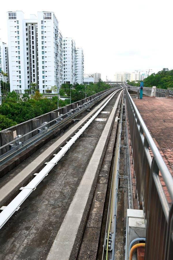 Singapore: Transport för ljus järnväg (LRT) royaltyfria bilder