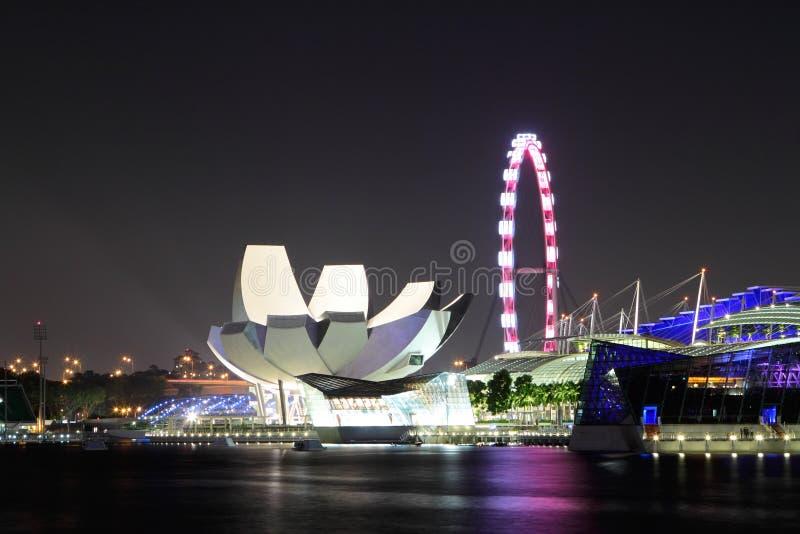 Download Singapore vid natt arkivfoto. Bild av landmark, cityscape - 27279776
