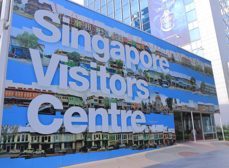 Singapore Visitors Centre Orchard Road royalty free stock photo
